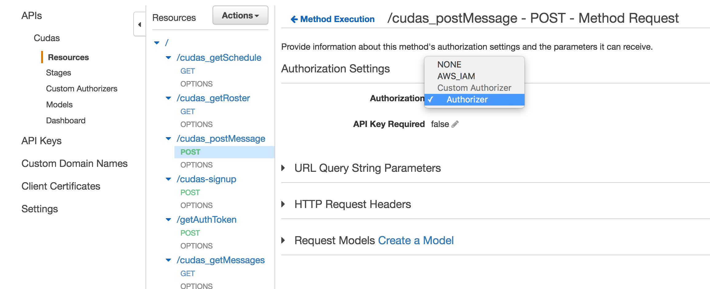 apigateway admin custom authorization
