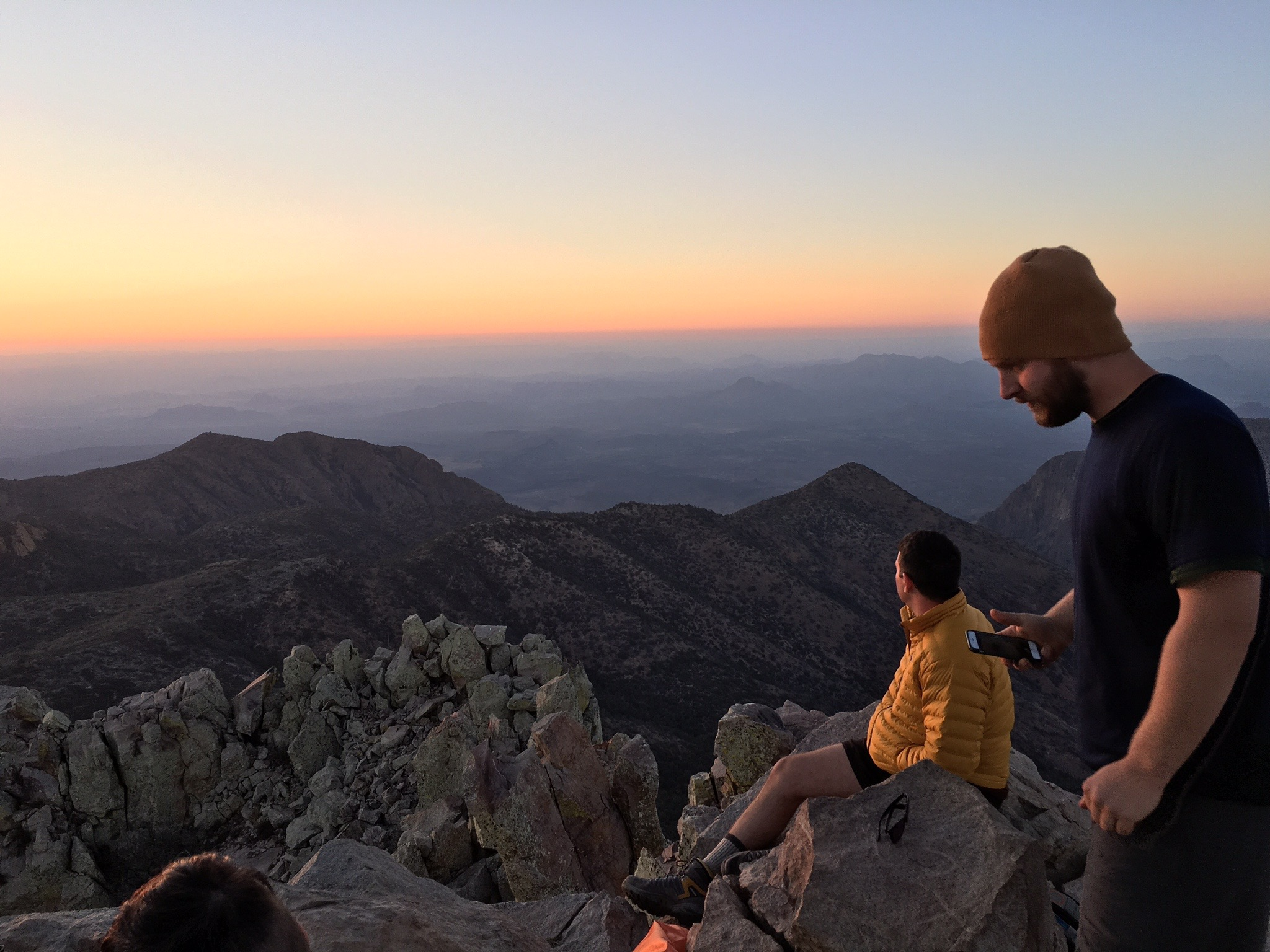 emory peak austin chris sunset